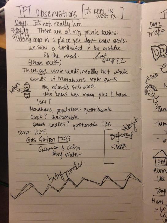monahans journal entry