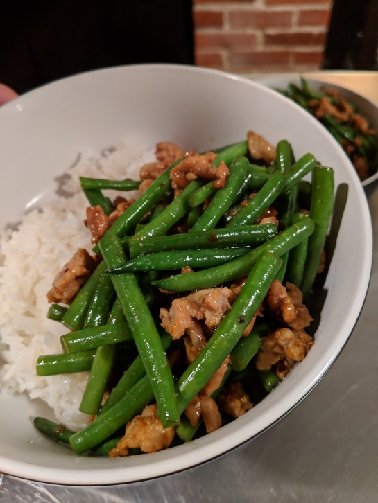 vietnamese ground pork and green beans
